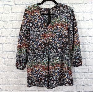 Zara Floral Romper Jumpsuit - Size Small